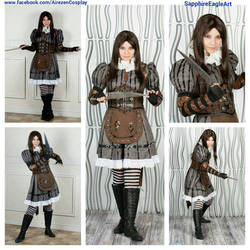 Alice Cosplay Steamdress Collage
