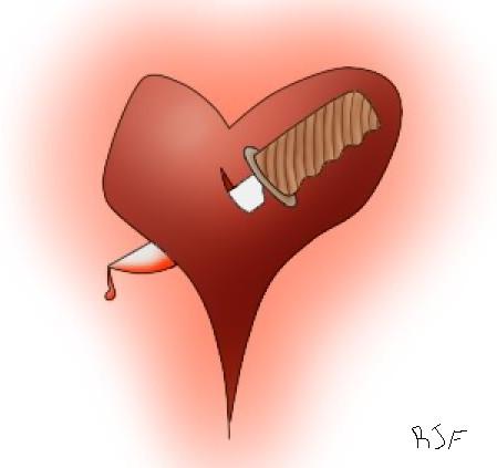 Knife in Heart Heart Knife by Yetanothernewb