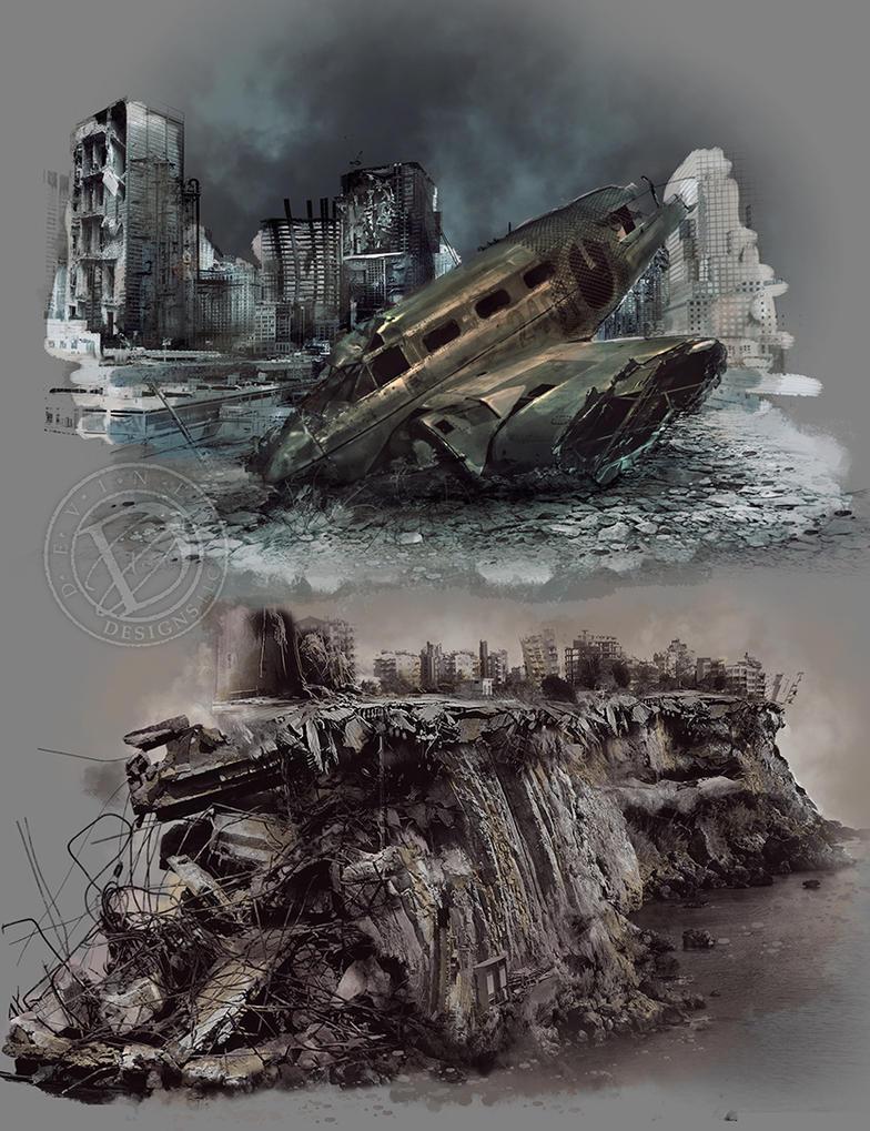 Apocalypse-illustration by deviney