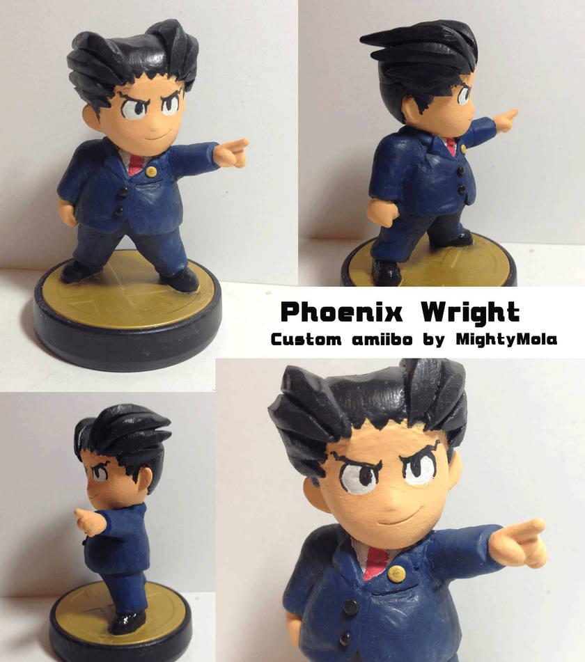 Phoenix Wright (Custom amiibo) by mightymola