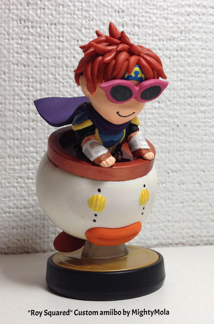 roy squared custom amiibo by mightymola on deviantart