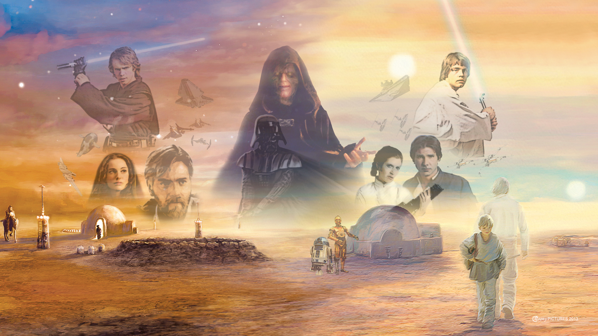 star wars  the complete saga cover expanded