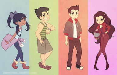 Team Legend of Korra in Modern clothes