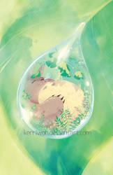 Totoro Water Drop by Kerriwon