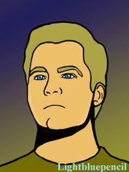 Captain Kirk by Lightbluepencil
