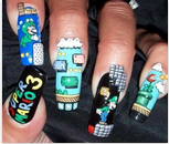 Mario Nails by CreamTroll