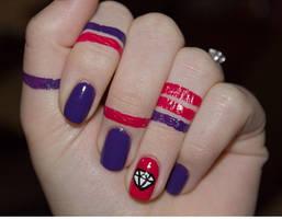 Wonder Woman Nails by CreamTroll