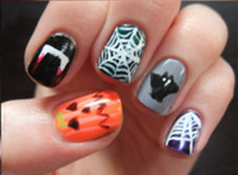 Halloween Nails by CreamTroll
