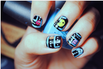 Pac-Man Nails by CreamTroll