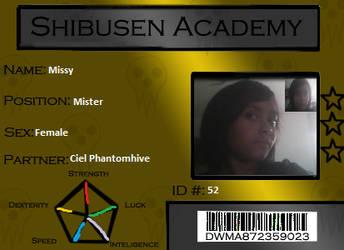 Shibusen Academy ID card by CreamTroll