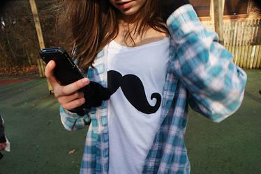 Mustache Shirt by CreamTroll
