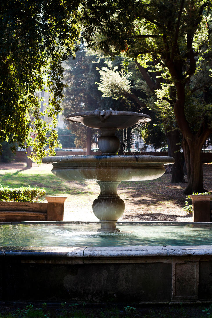 Fountain - Villa Borghese by HMSpeedFreek
