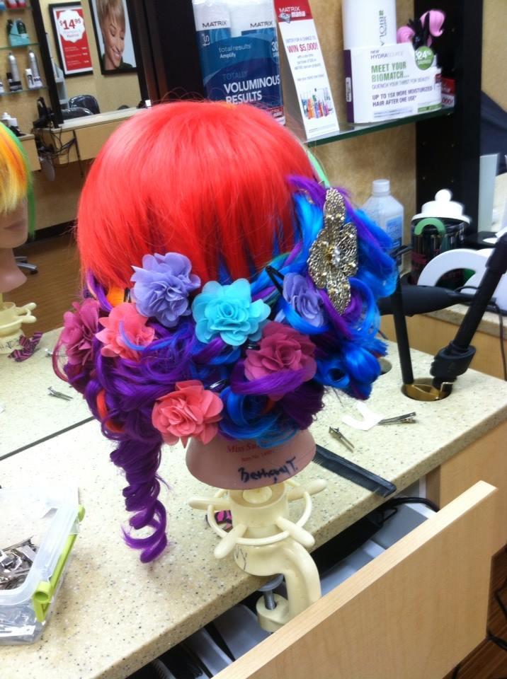 Styled rainbow wig by lunabella13