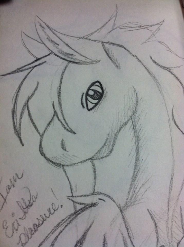 I Am Eri, It's A Pleasure! (line art) by lunabella13