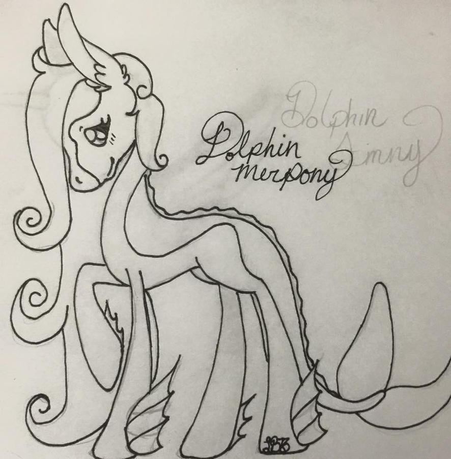 dolphin merpony by lunabella13