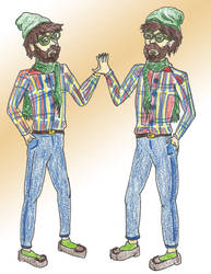 Hipster Dee and Hipster Dum