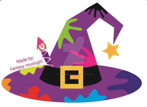 Fantasy-musicgirl Witch Hat Logo