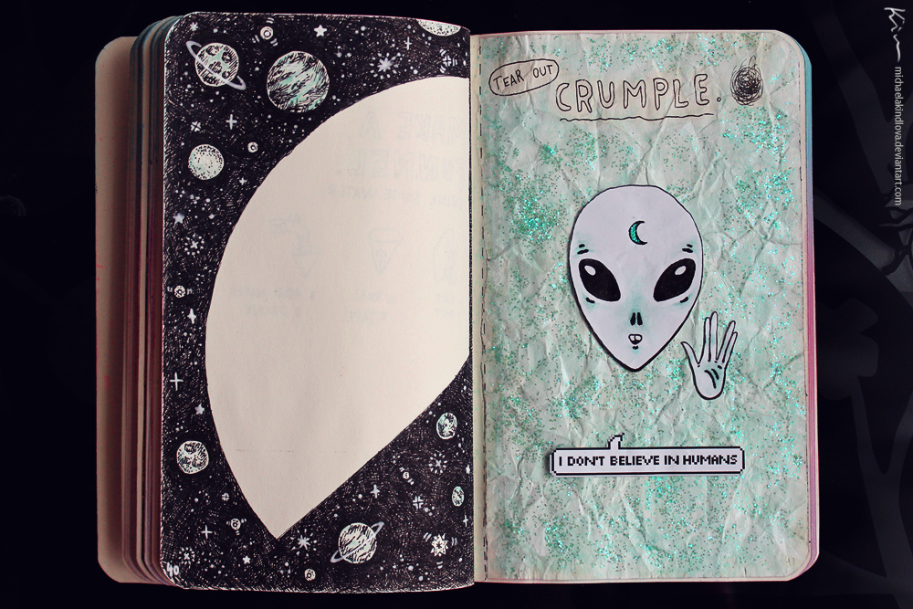 Wreck This Journal Page 40 41 By MichaelaKindlova On DeviantArt
