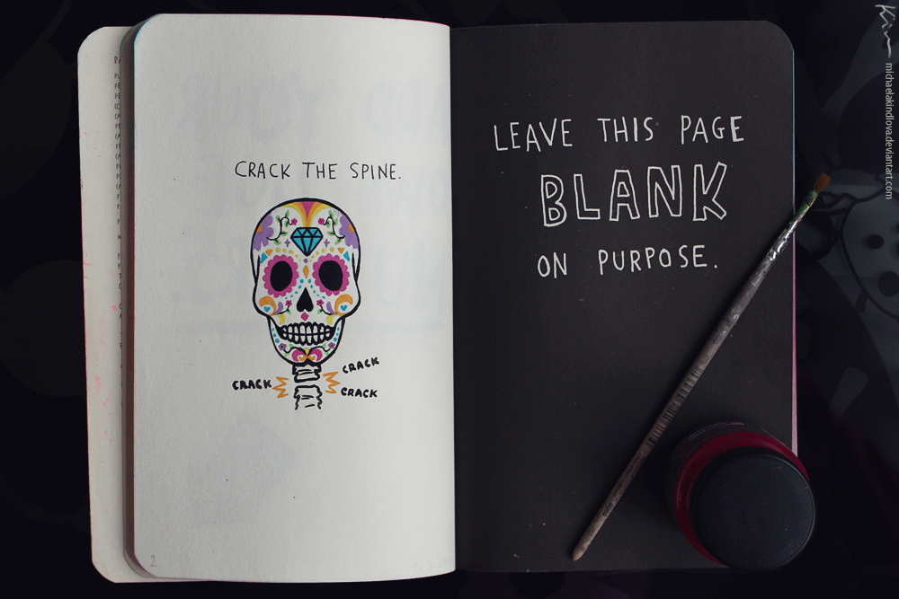 Wreck This Journal Page 118 119 By MichaelaKindlova On DeviantArt