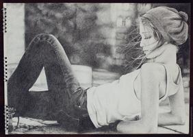 Drawing - Girl by MichaelaKindlova