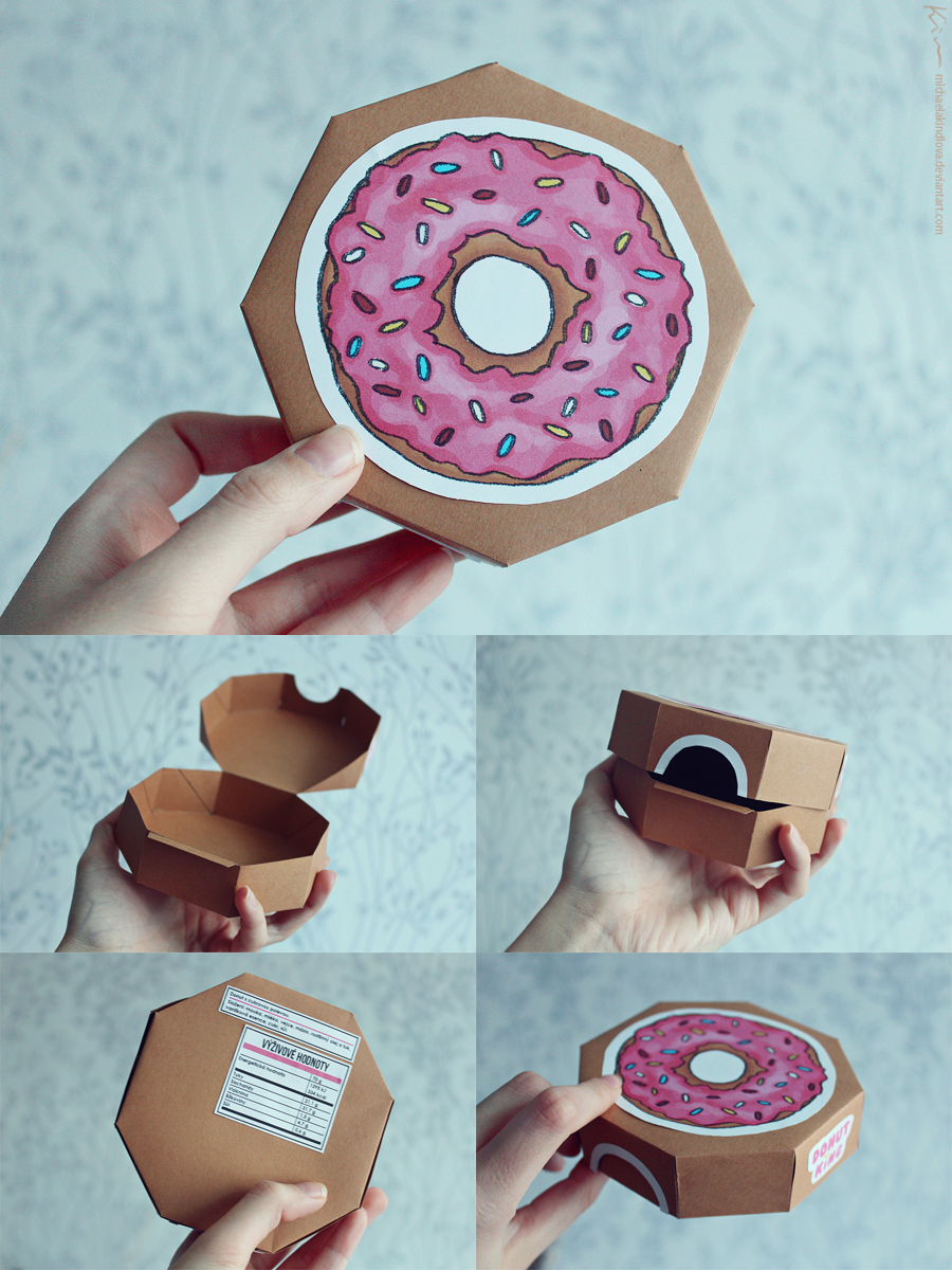 Donut box by MichaelaKindlova
