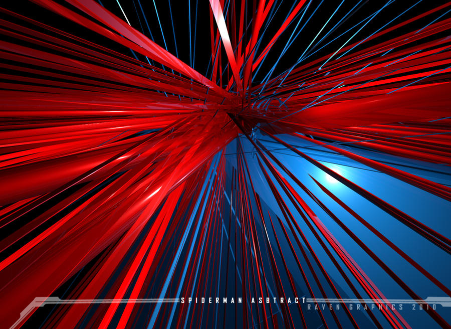spiderman 3d. Spiderman 3D Abstract by