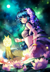Full Moon Night by elRion-XIII