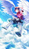 Commission: Azure Sky