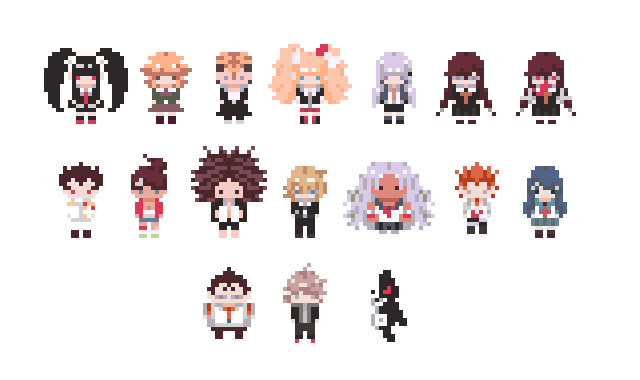 Dangan Ronpa Pixel Tumblr dangan ronpa pixels by...