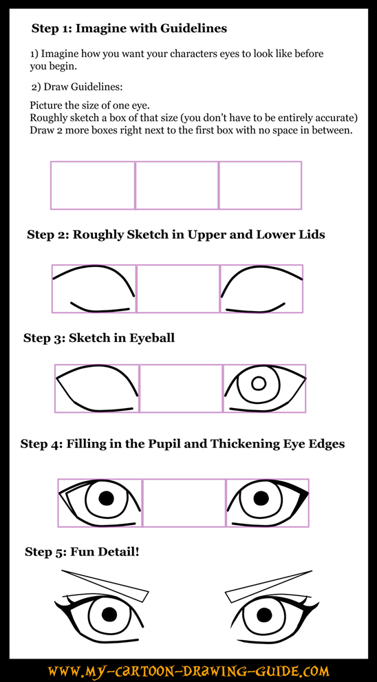 Anime Eye Drawing Techniques How to Draw Anime Eyes 3 by