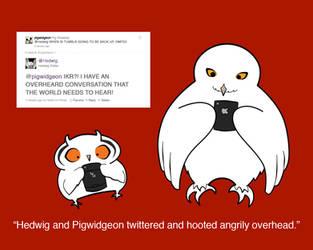 Hedwig and Pigwidgeon Twitter by Rotae
