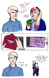 Draco and I exchange birthday presents