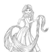 Tangled:Rapunzel by KeybladerEva