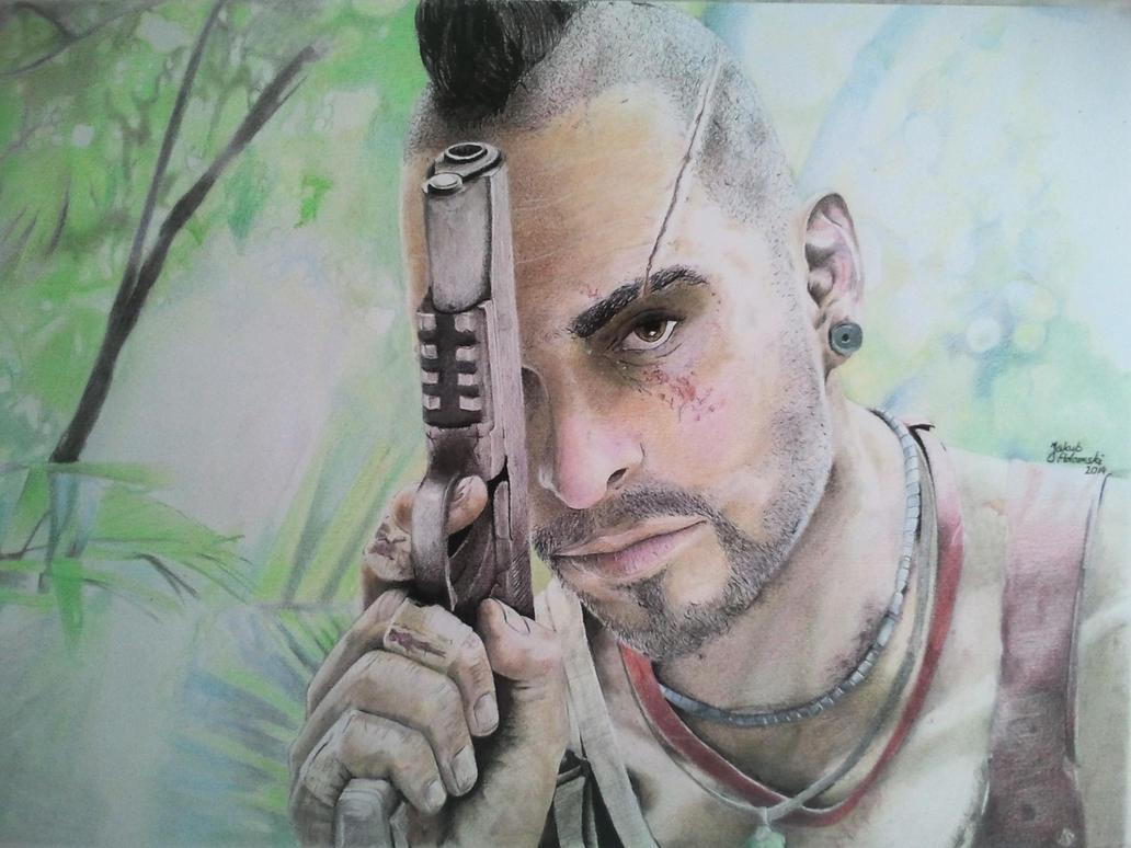 Far Cry 3 :Vaas Montegro (Color Pencil) by ...