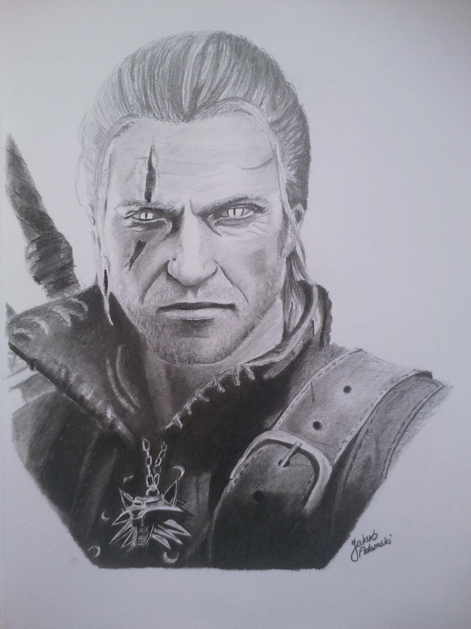 The Witcher : Geralt by JakubQaazAdamski