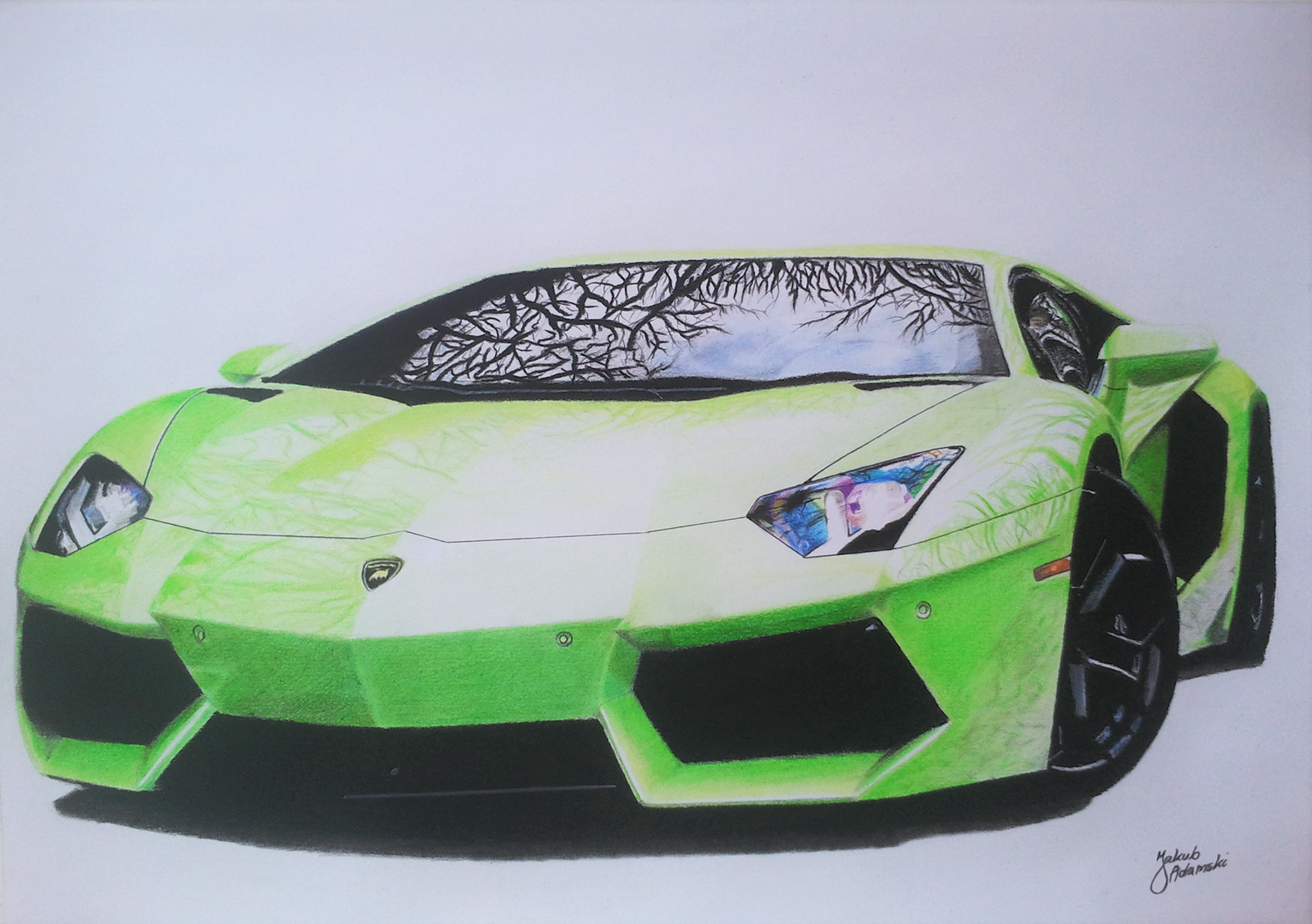 Lamborghini Aventador LP700-4 - Color Pencil by JakubQaazAdamski on on draw lamborghini gallardo, draw lamborghini sesto elemento, draw volvo s60, draw lamborghini murcielago, draw lamborghini diablo,