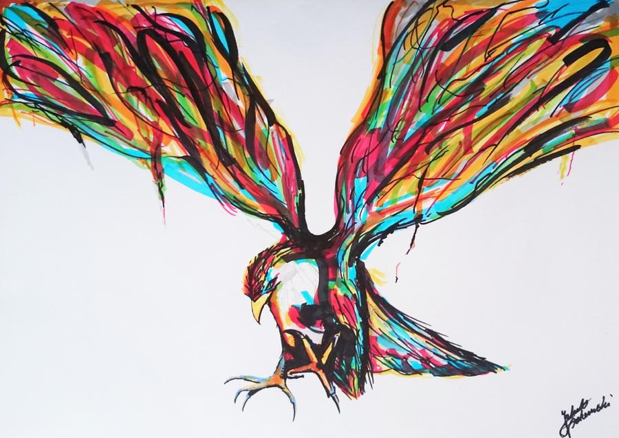 Abstract Bird - Drawing by JakubQaazAdamski on DeviantArt