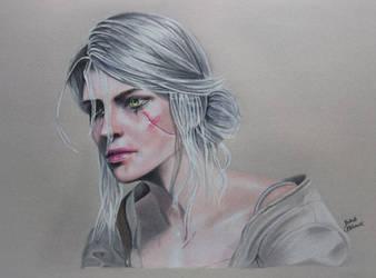 The Witcher 3 : Ciri Drawing by JakubQaazAdamski