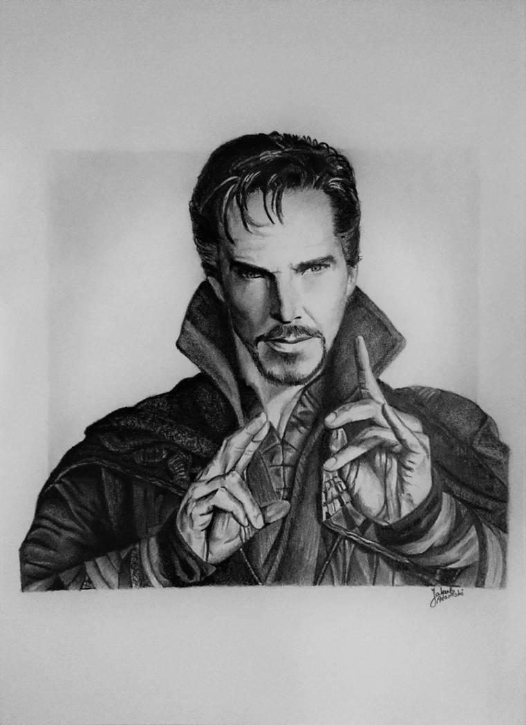Doctor strange drawing by jakubqaazadamski
