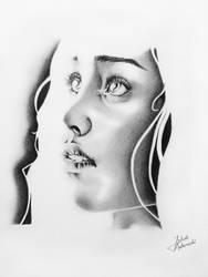 Daenerys drawing by JakubQaazAdamski