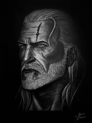 The Witcher - Geralt drawing by JakubQaazAdamski