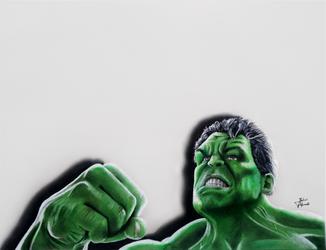 Hulk: Drawing by JakubQaazAdamski