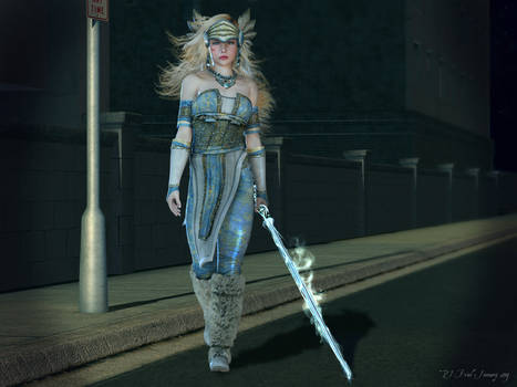 Valkyrie in the city