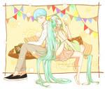[Fan Art] Vocaloid - Miku x Kaito