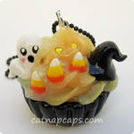 Candy Corn Ghost Necklace by CatNapCaps