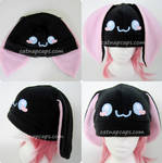 Sweet Cheek Black Bunny Hat