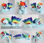 Squeaker Dash Rainbow Dash Beanie Plush