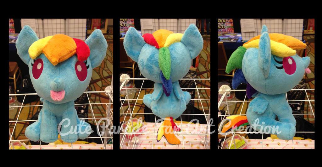 Baby Rainbow Dash Fan Art Plush by CatNapCaps