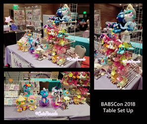 BABSCon 2018 Table Set Up