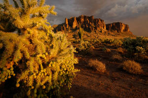 Superstition Mountains Sand Storm
